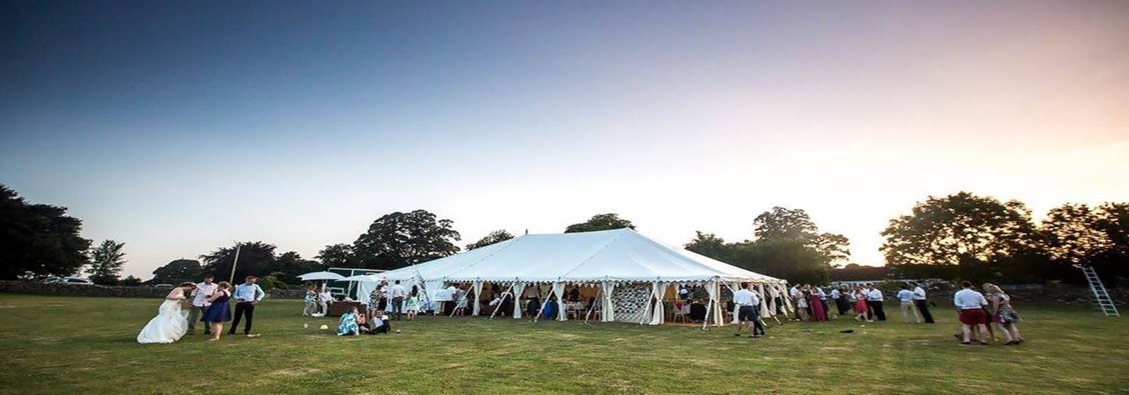 Traditional marquee in the evening